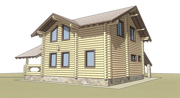 Деревянный дом с сауной