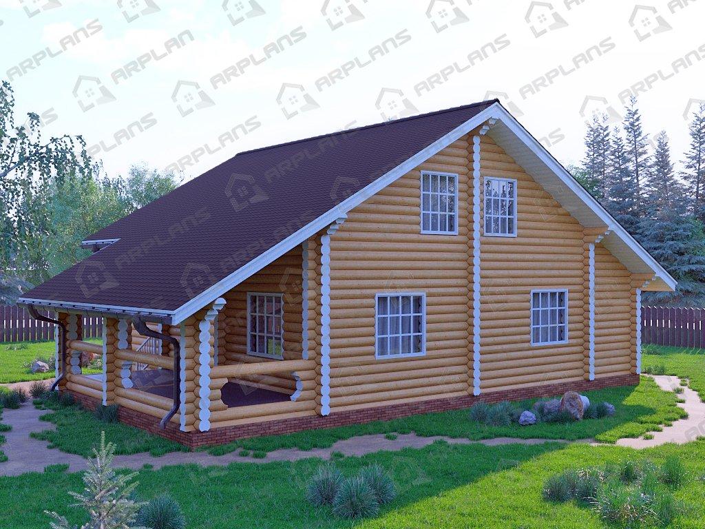 Проекты деревянных домов Д-033
