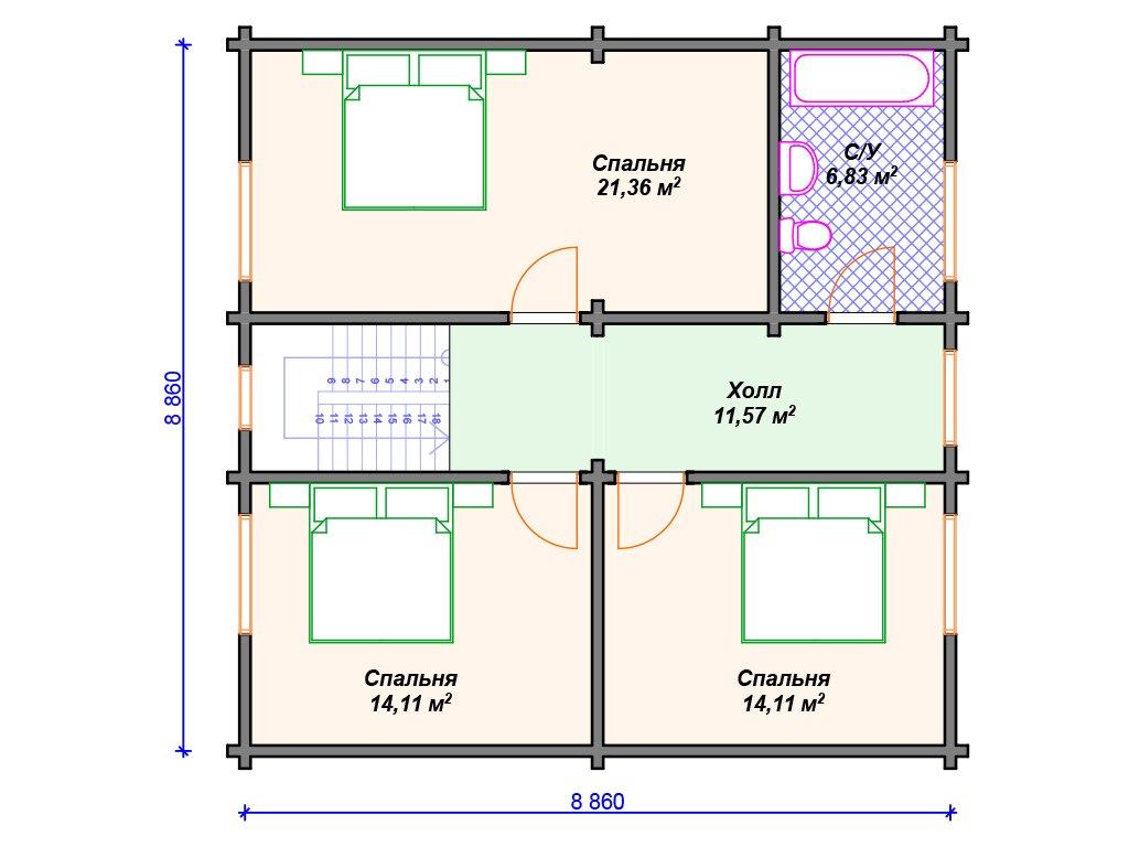 Проект дома ДС-103 (139.87 кв.м)