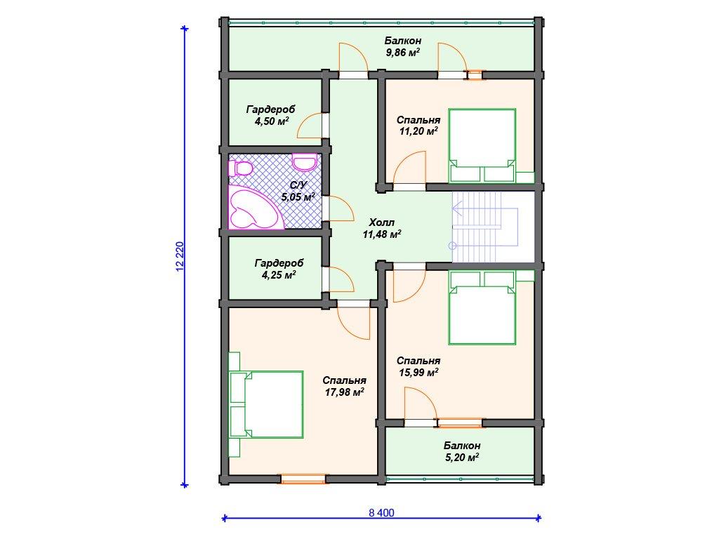 Проект дома ДС-101 (176.93 кв.м)