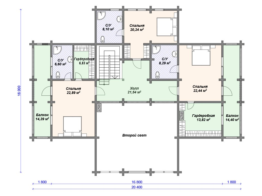 Проект дома ДС-100 (437.65 кв.м)