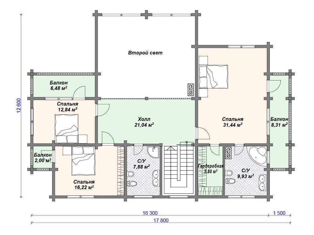 Проект дома ДС-097 (334.37 кв.м)