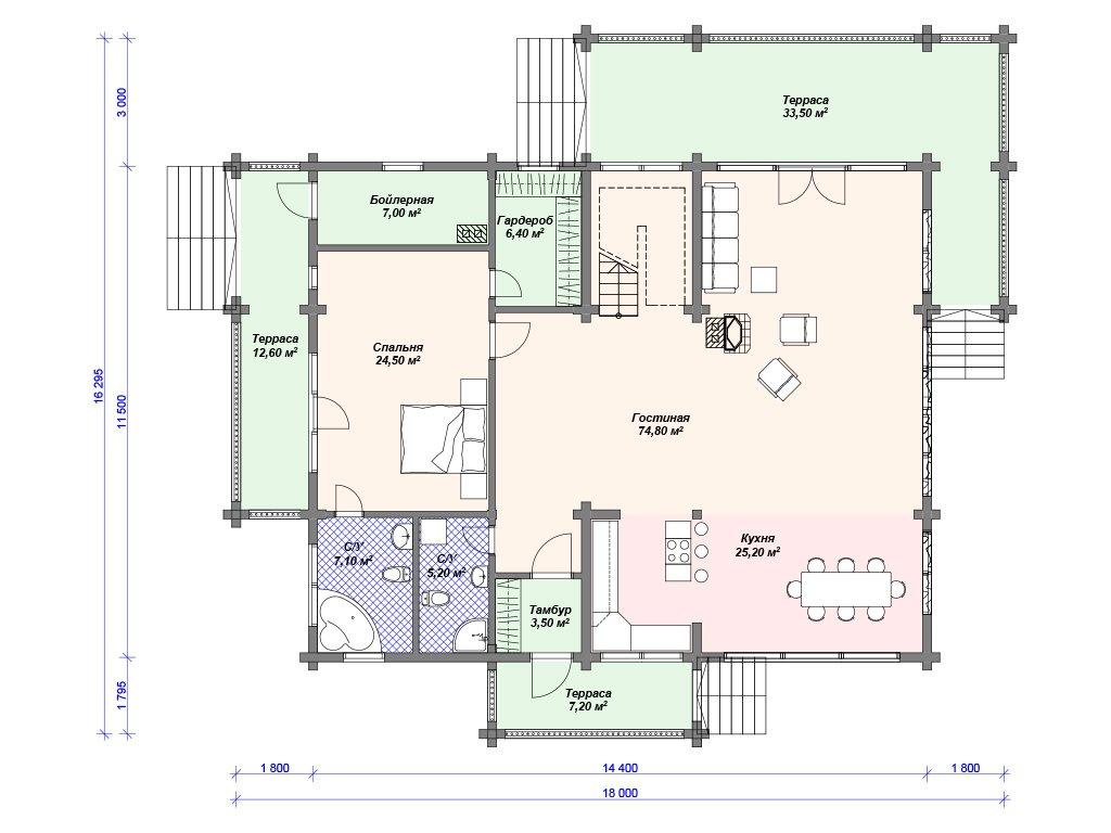 Проект дома ДС-095 (280.00 кв.м)
