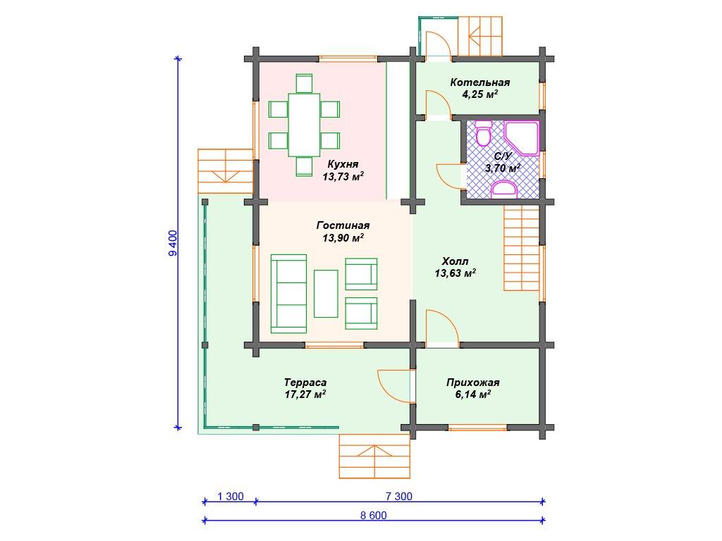 Проект дома ДС-092 (143.29 кв.м)