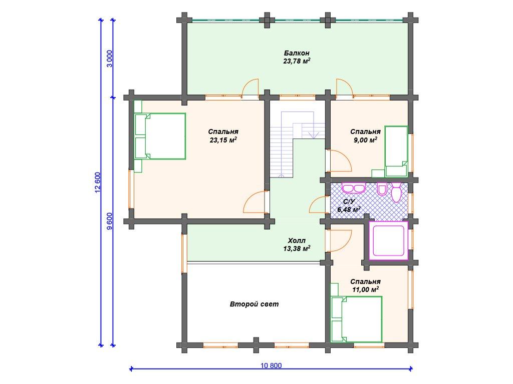 Проект дома ДС-084 (277.88 кв.м)
