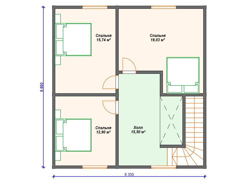 Проект дома ДС-079 (136.43 кв.м)