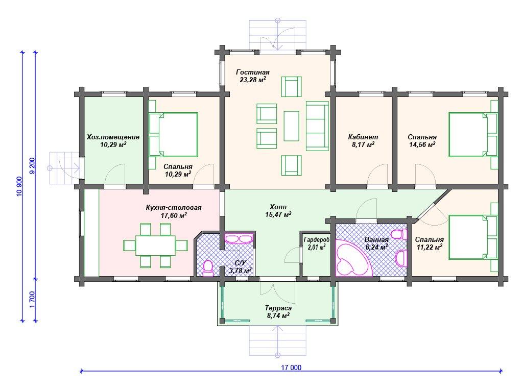 Проект дома ДС-075 (131.65 кв.м)