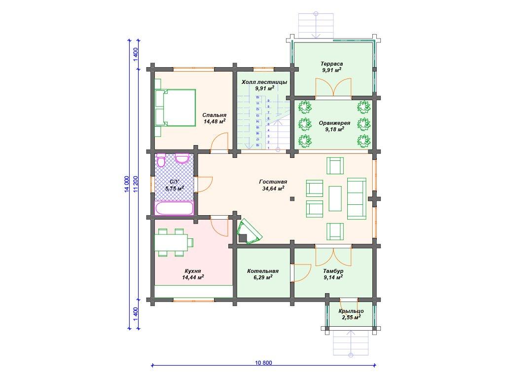 Проект дома ДС-068 (304.60 кв.м)