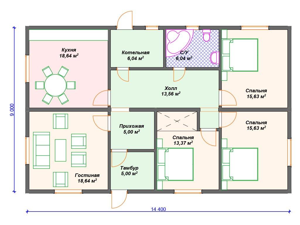 Проект дома ДС-067 (117.55 кв.м)