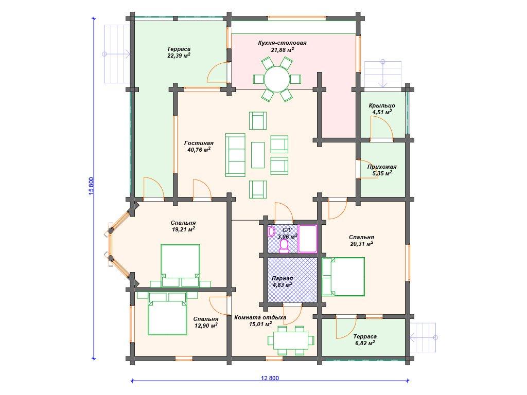Проект дома ДС-065 (177.03 кв.м)
