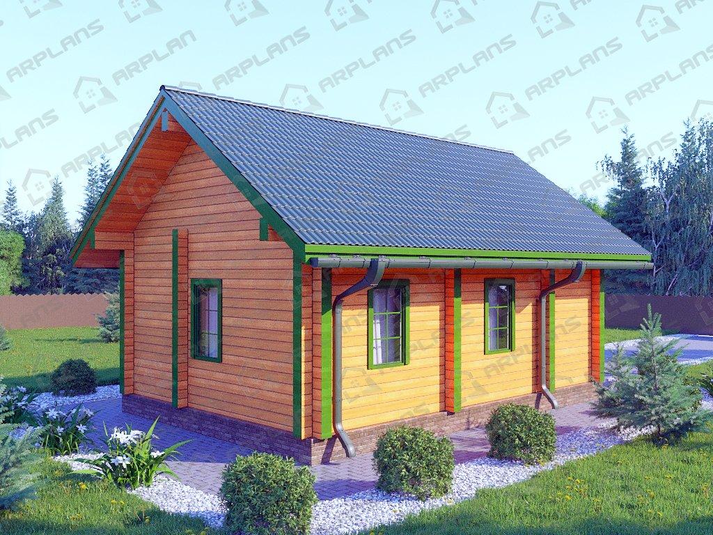 Проект дома ДС-058 (38.28 кв.м)