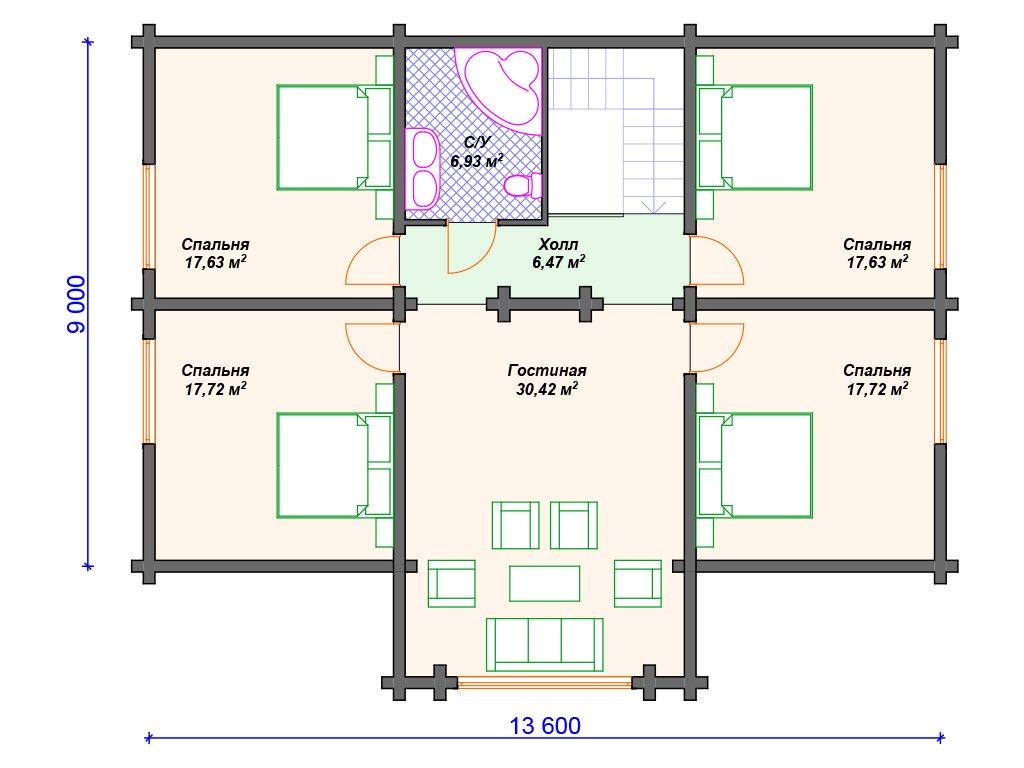 Проект дома ДС-054 (257.08 кв.м)