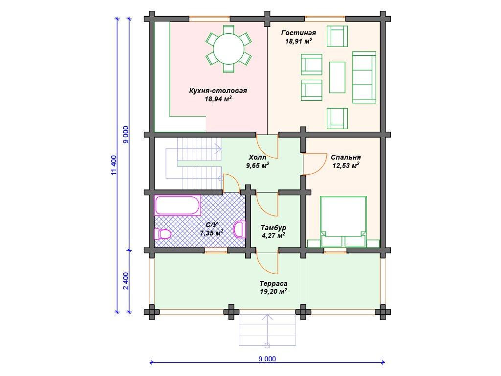 Проект дома ДС-053 (177.35 кв.м)