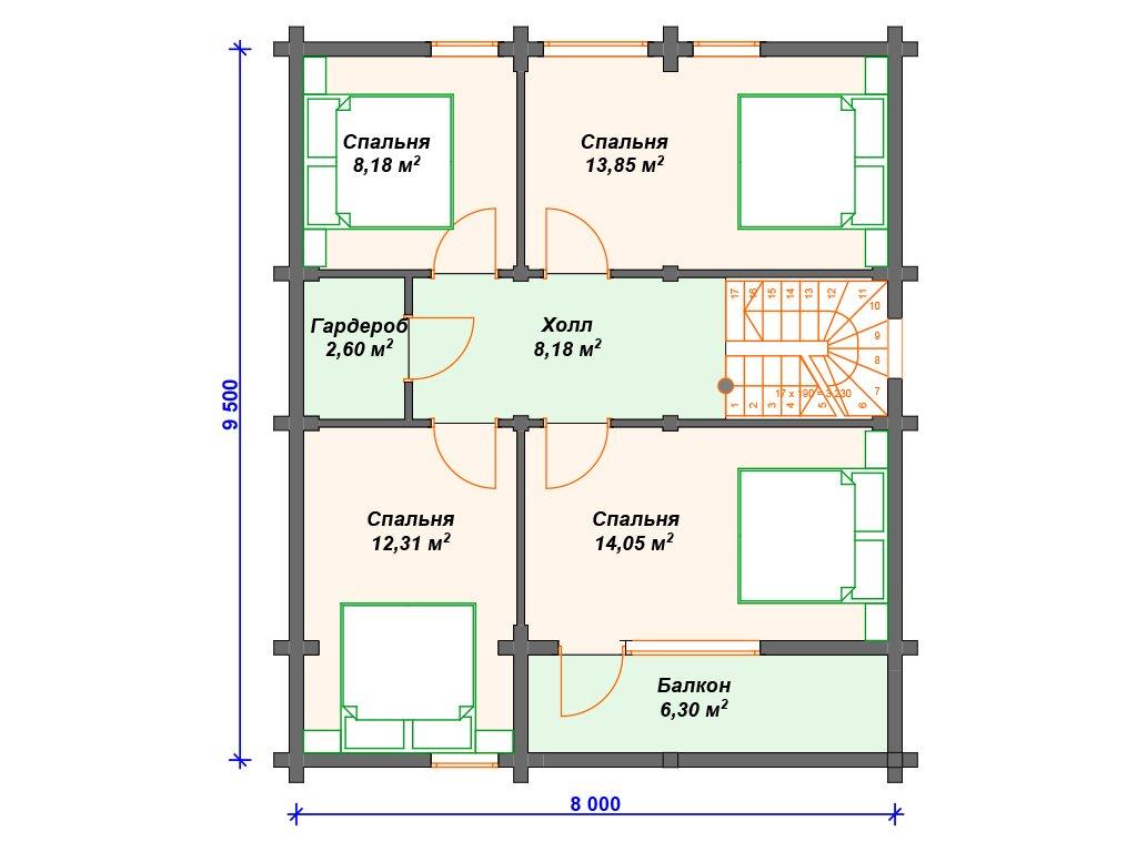 Проект дома ДС-041 (136.78 кв.м)