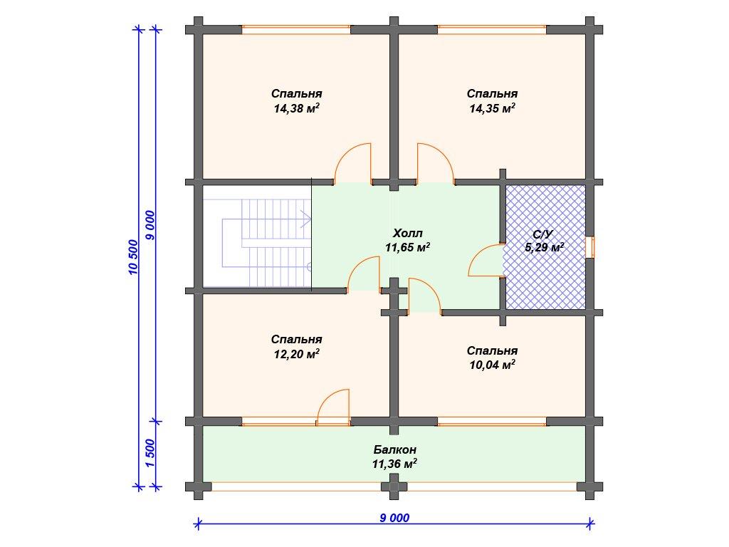 Проект дома ДС-034 (197.82 кв.м)