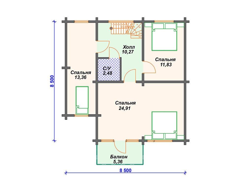 Проект дома ДС-028 (151.00 кв.м)