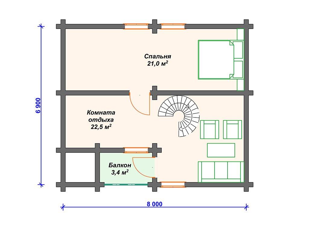 Проект дома ДС-026 (94.70 кв.м)