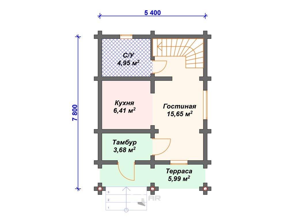 Проект дома ДС-023 (71.87 кв.м)