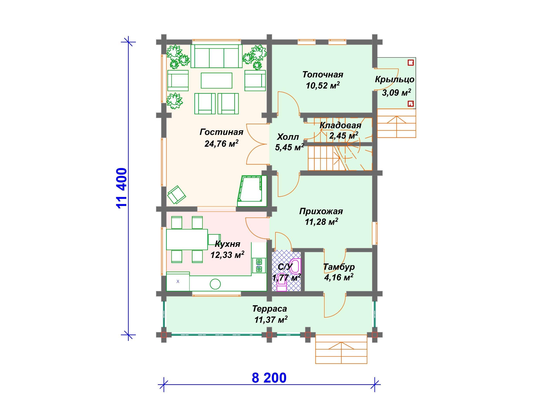 Проект дома ДС-008 (162.07 кв.м)
