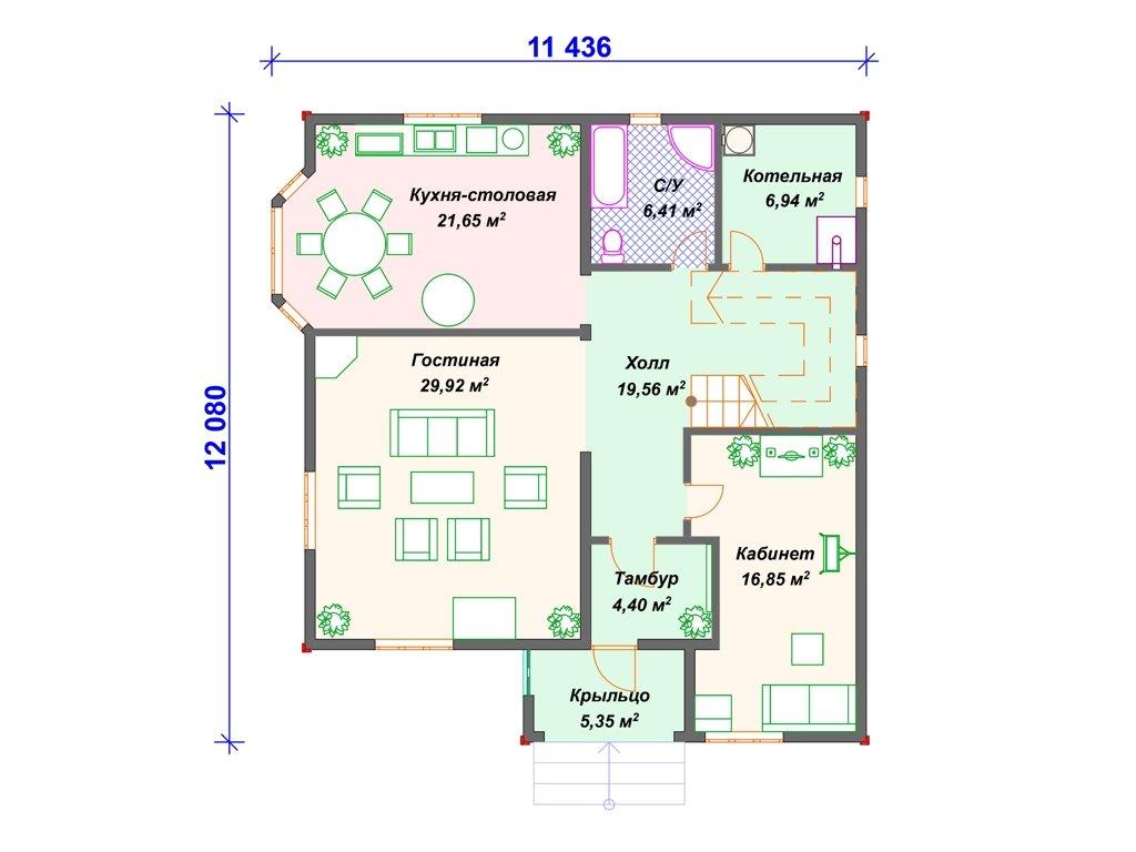 Проект дома ДC-004 (212.81 кв.м)