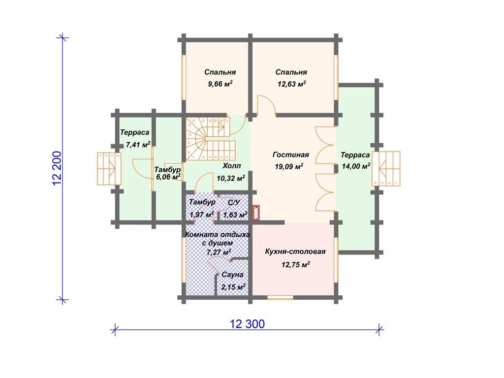 Проект дома ДC-003 (192.15 кв.м)