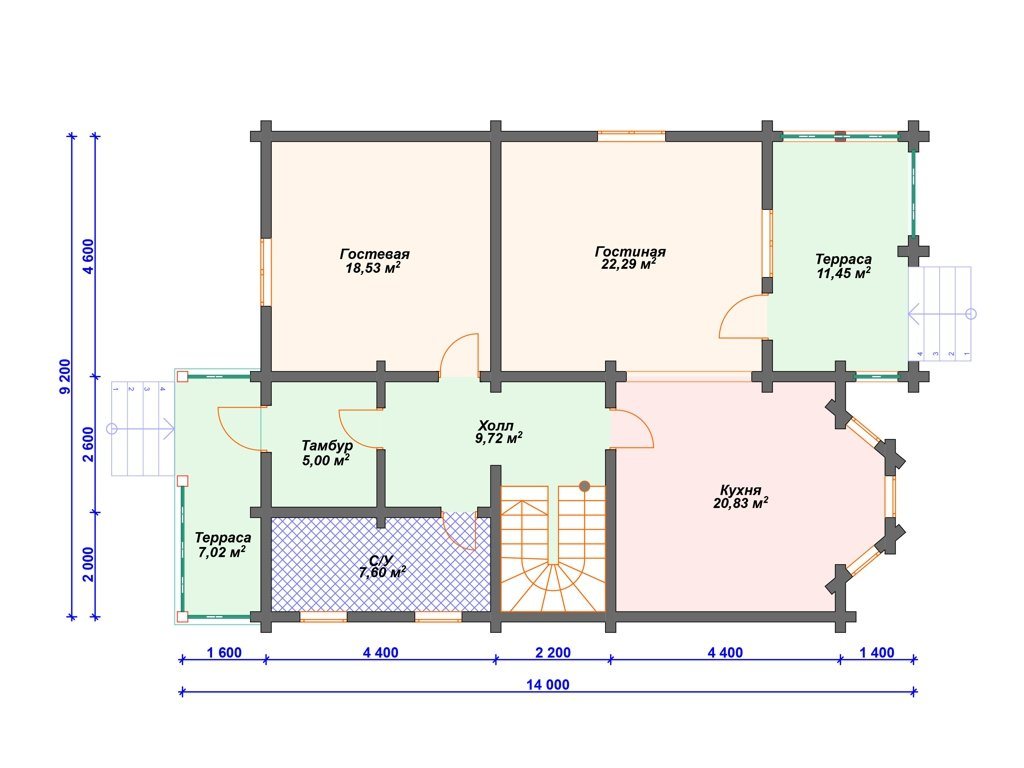Проект дома ДC-002 (189.65 кв.м)
